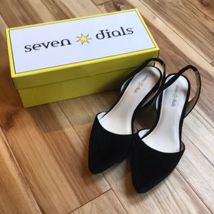 Brand New Black Velvet Seven Dials shoes